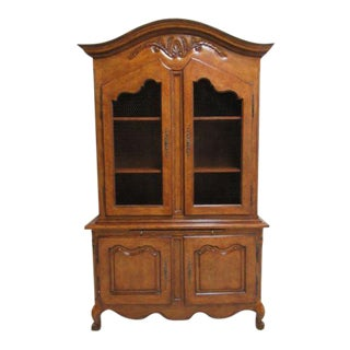 Karges French Regency Carved China Cabinet & Hutch