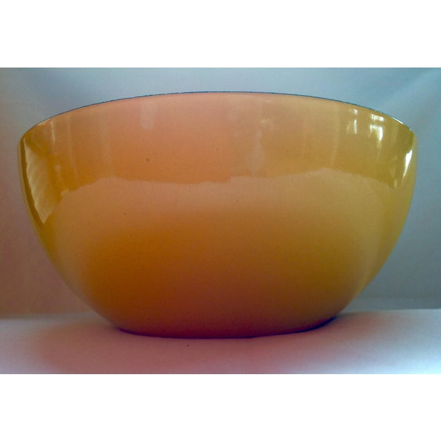Danish Modern Rare Catherineholm Yellow & Blue Bowls - a Pair For Sale - Image 3 of 8