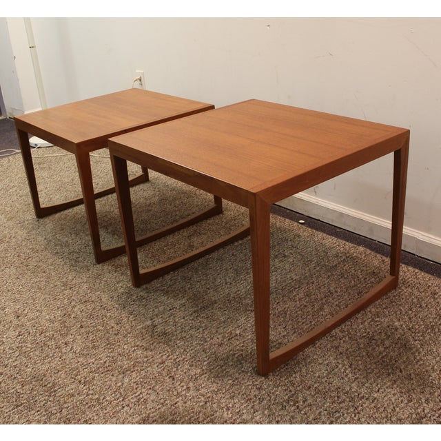 Danish Modern George Tanier Teak End Tables - Pair - Image 10 of 10
