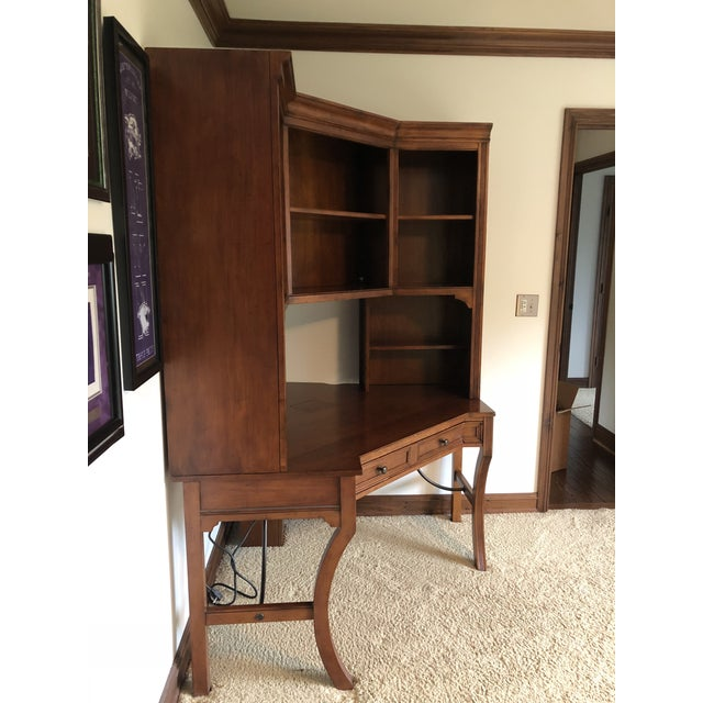 Traditional Vintage Sligh-Lowry Furniture Co. Corner Desk Unit For Sale - Image 3 of 5
