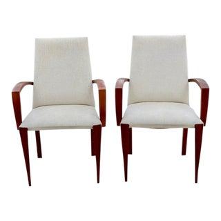 Dakota Jackson Dining Chairs - A Pair For Sale