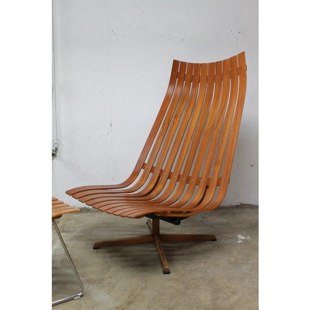 Hans Brattrud Hans Brattrud Scandia Lounge Chair & Ottoman For Sale - Image 4 of 11