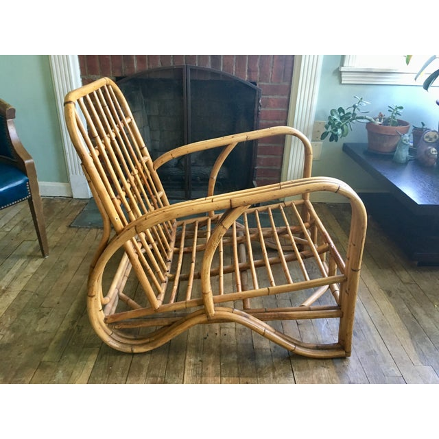 Mid-Century Modern Bamboo Club Chair - Image 5 of 10