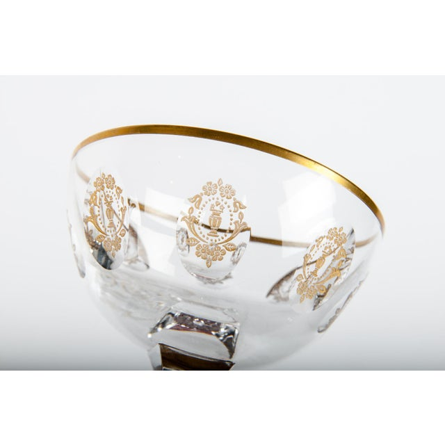 Vintage Set 15 Cut Crystal Champagne Coupes/Martini For Sale - Image 4 of 5