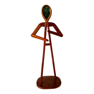 Hand-Made Mahogany Female Figure With Mirror Face, Life Size For Sale