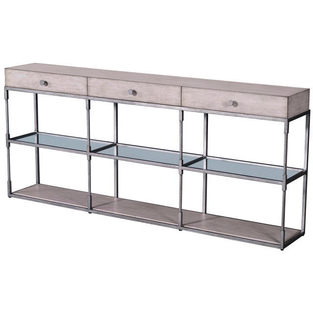Contemporary Century Furniture Westport Triple Console, Peninsula For Sale - Image 3 of 3