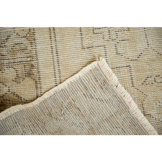 "Vintage Distressed Oushak Rug Runner - 3'1"" x 6'8"" - Image 7 of 9"