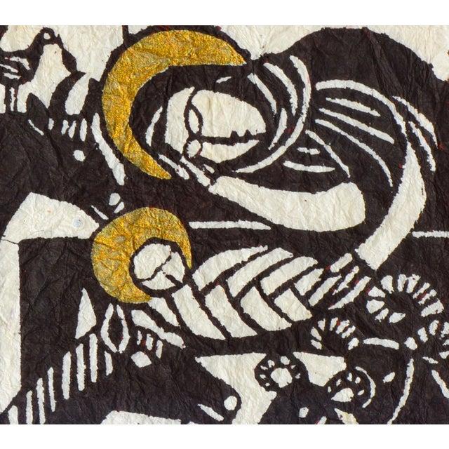 Jesus & Mary Woodblock Print - Image 4 of 5