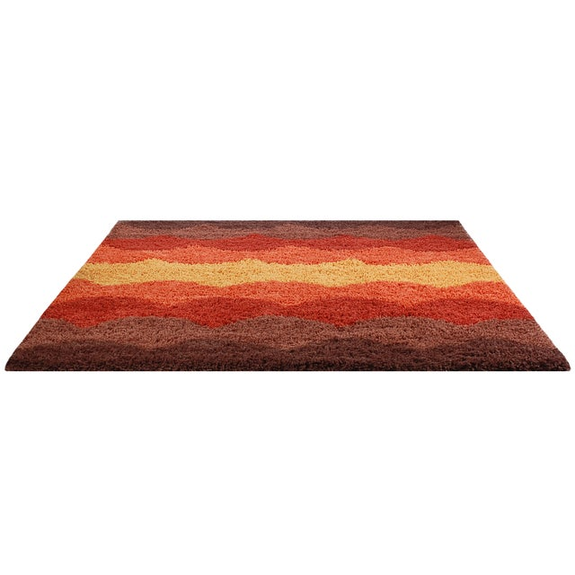 Finely crafted, high-quality designer shag rug inspired by the classic Scandinavian designs of the 1950s and 60s. The...