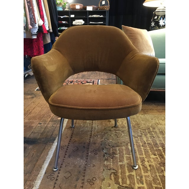 Textile Knoll Eero Saarinen Executive Chair For Sale - Image 7 of 7