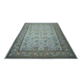 Turkish Anatolian Modern & Decorative Oushak Rug - 10′4″ × 13′2″