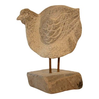 Stone Sculpture of a Chicken For Sale