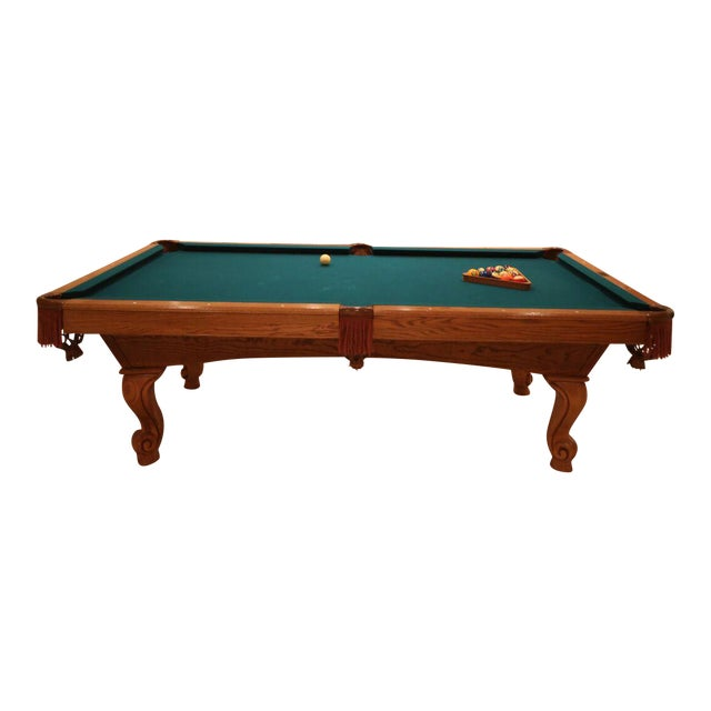 Brunswick Pool Table With Table Tennis Conversion Top Chairish - Brunswick pool table ping pong top