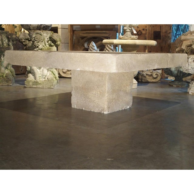 This versatile coffee table from the South of France has been carved from the famous Estaillade stone of Provence. The top...