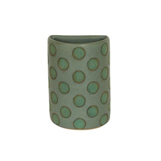 Green Split Polka Dot Vases by Matthew Ward For Sale
