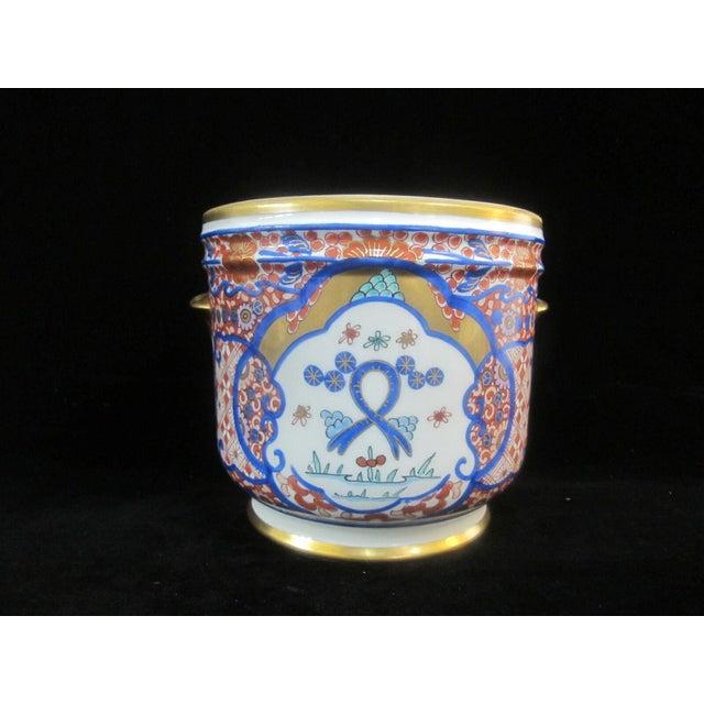 Metal Vintage Porcelain Imari Pot Small Handle Vase Jar Gold Gilt Floral Design For Sale - Image 7 of 7