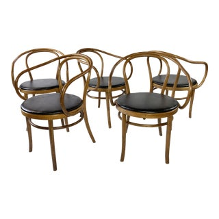 Bentwood Thonet Dining Chairs - Set of 5 For Sale