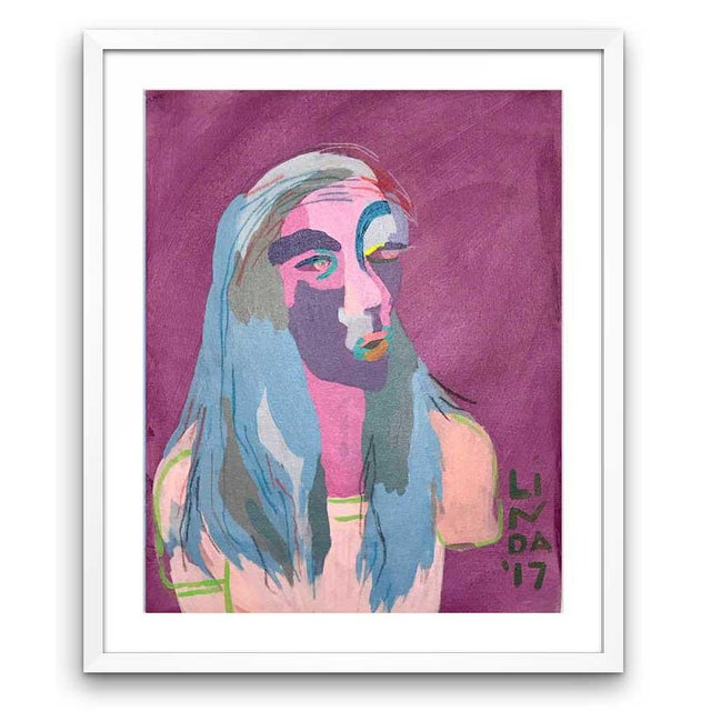 """Contemporary Abstract Portrait Painting """"This Is This, That Is That"""" - Framed For Sale In Detroit - Image 6 of 6"""
