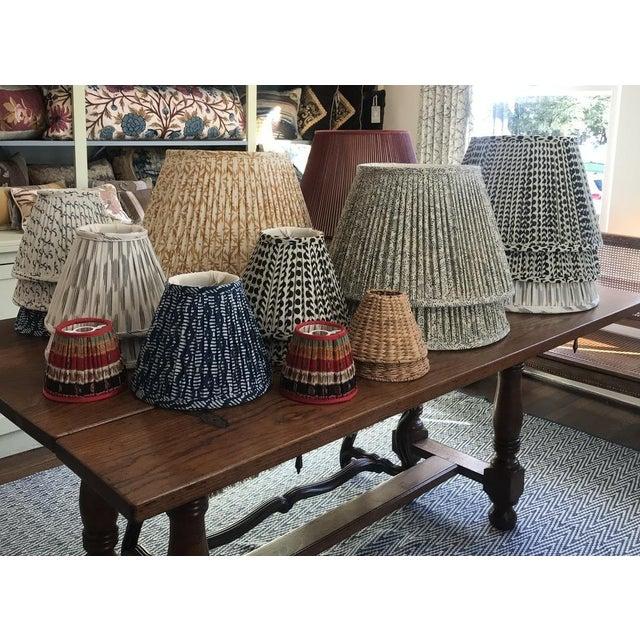 2020s Custom Maison Maison Gathered Lampshade For Sale - Image 5 of 6