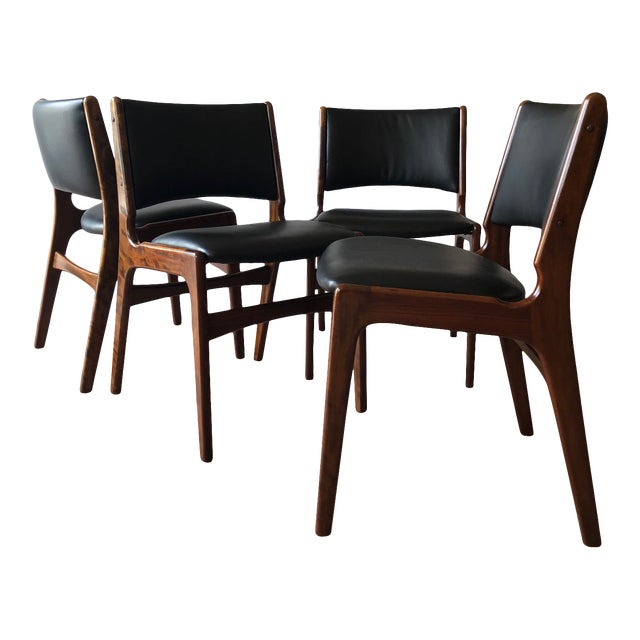 1960s Vintage Rosewood Dining Chairs by Erik Buch (Model 89) - Set of 4 For Sale