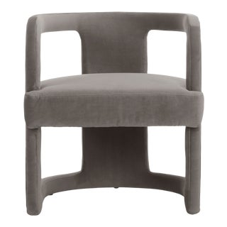 Skylar Accent Chair, Mouse Grey For Sale