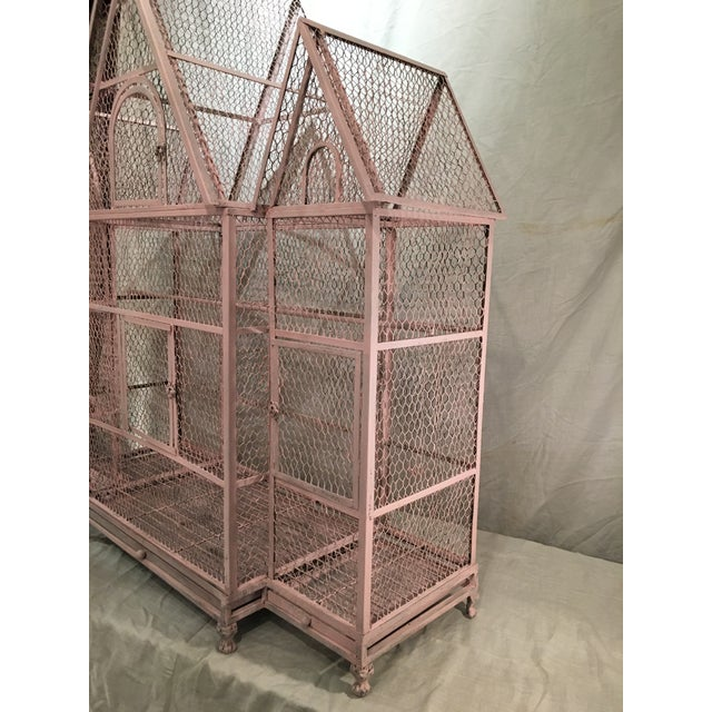 Pink Chateauesque Birdcage For Sale - Image 4 of 11