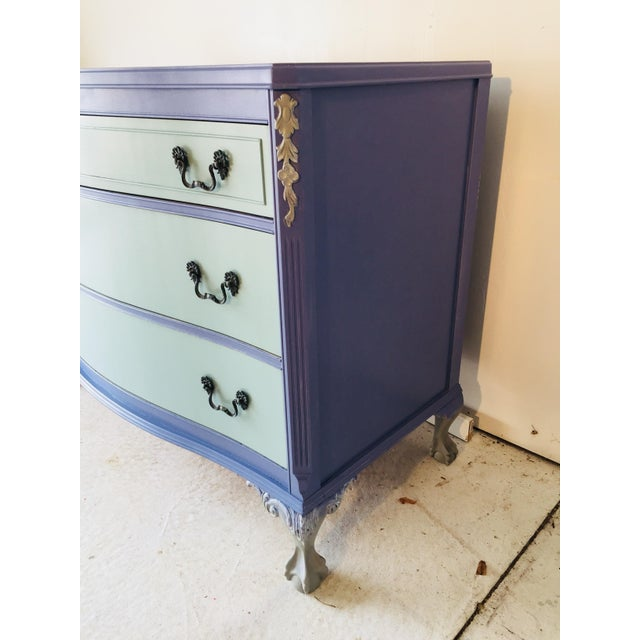 Wood 1940s French Provence Style Decor Painted Mahogany Dresser For Sale - Image 7 of 8