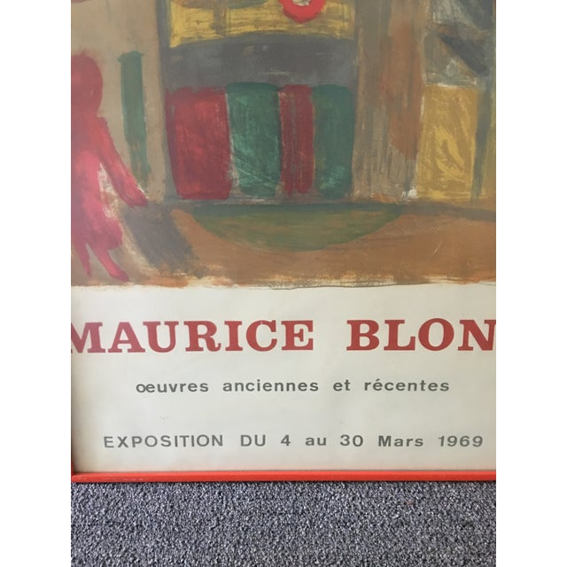 Boho Chic 1969 Abstract Maurice Blond Original Gallery Poster For Sale - Image 3 of 6