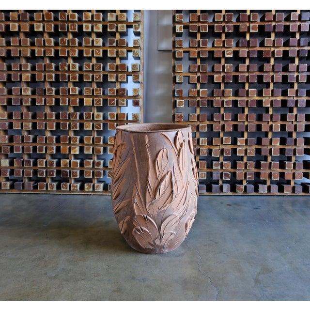"""David Cressey """"Expressive"""" design ceramic planter for Architectural Pottery, circa 1970."""