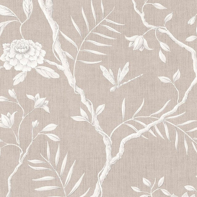 "2020s Lewis & Wood Jasper Peony Almond Bespoke Extra Wide 52"" Botanic Style Wallpaper For Sale - Image 5 of 5"