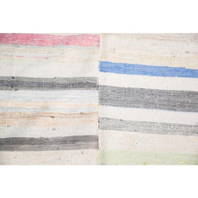 "Vintage Rag Rug Carpet - 6'6"" X 10'10"" - Image 3 of 7"