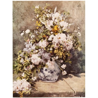 "1950s Renoir Vintage ""Large Vase of Flowers"" Lithograph For Sale"