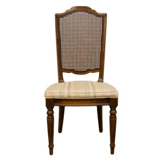 Late 20th Century Italian Neoclassical Style Cane Back Dining Side Chair For Sale