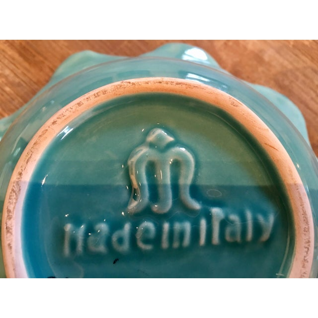 Italian Majolica Turquoise Shell Motif Bowl - Image 5 of 5