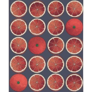 Cole & Son Arance Wallpaper Roll - Blood Orange/Ink For Sale