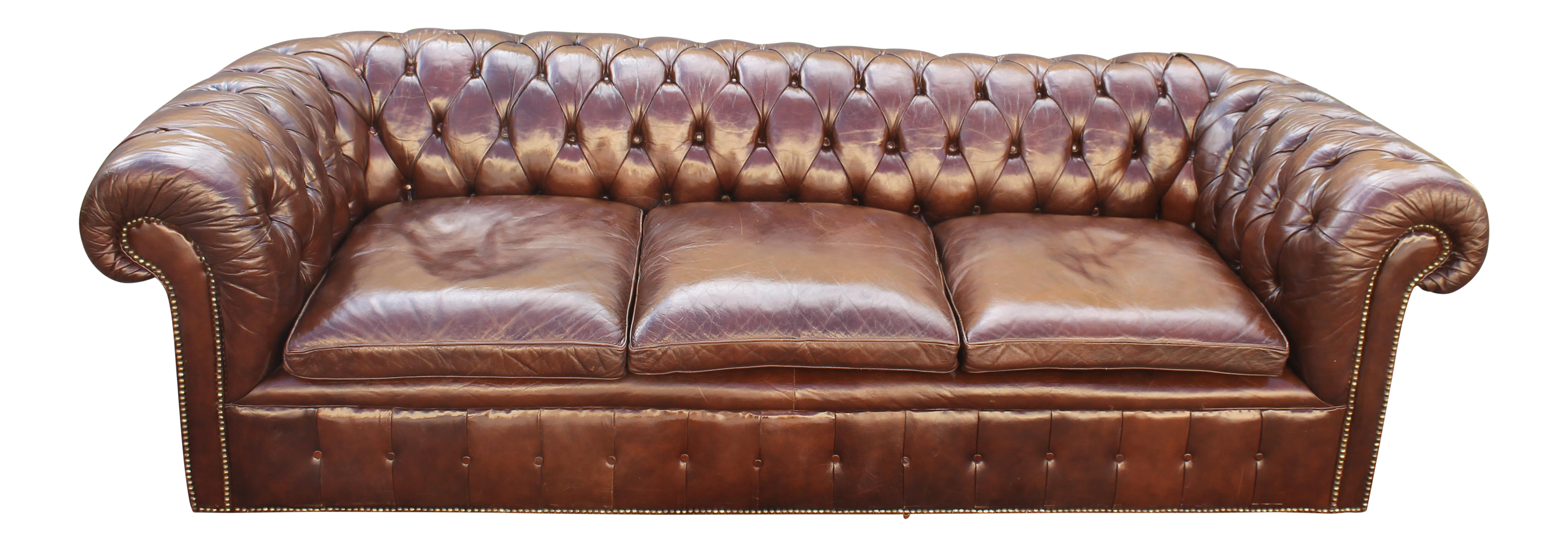 vintage chesterfield style grand leather sofa chairish rh chairish com franklin grand leather sofa burlington grand leather sofa