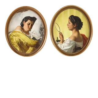 Federico Maldarelli (Italian, 1826-1893) An Exceptional Pair of Oil Paintings For Sale