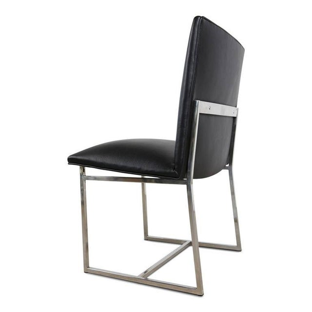 Milo Baughman Dining Chairs Reupholstered in Edelman Leather, Circa 1970 - Set of 8 - Image 6 of 8