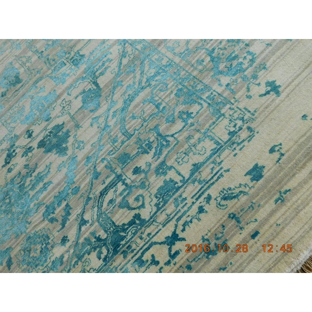 "Erased Hand-Knotted Luxury Rug - 7'10"" X 10'2"" - Image 9 of 10"