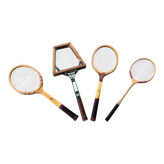 Collection of Antique Tennis Rackets - Set of 4 For Sale