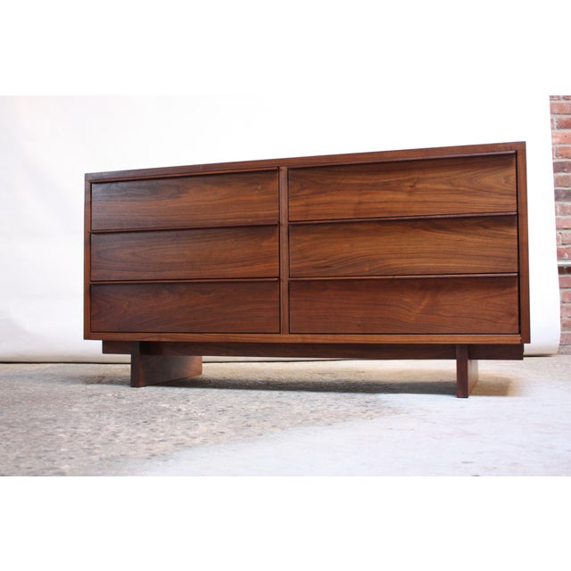 Vintage New England Solid Walnut Chest of Drawers For Sale - Image 11 of 11