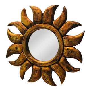 1960s Vintage Sunburst Mirror For Sale