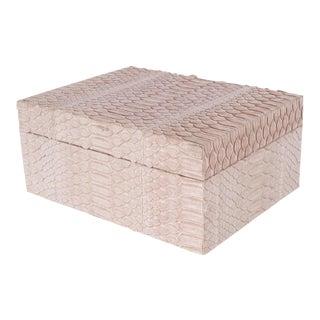 Modernist Lavender Python Snakeskin Box with Lid For Sale