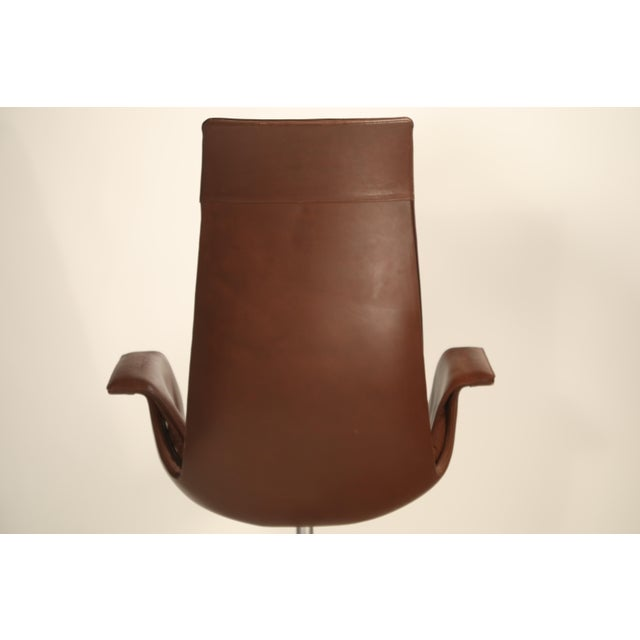 Brown Fk 6725 'Bird' Chair by Preben Fabricius and Jorgen Kastholm for Alfred Kill For Sale - Image 8 of 13