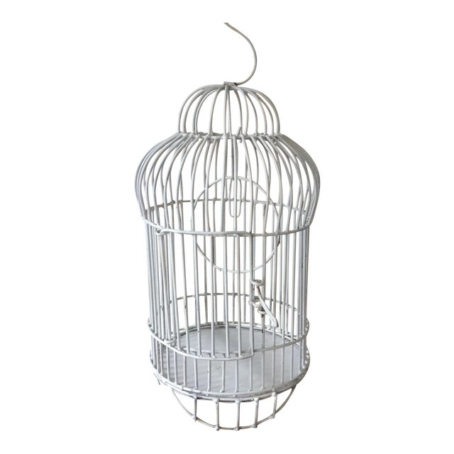 Mid-Century White Bird Cage For Sale