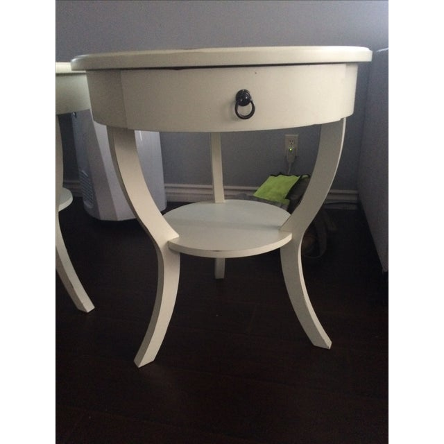 Pottery Barn White Nightstands - A Pair - Image 5 of 5