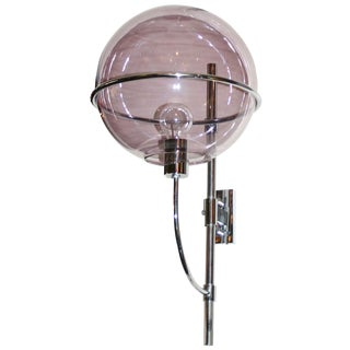 Vico Magistretti Violet Glass Sconce For Sale