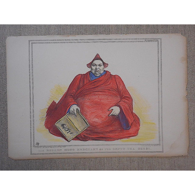 Antique British Satire Lithograph - Image 3 of 3