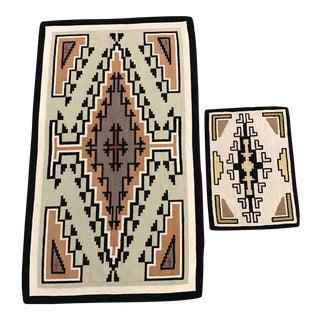 Peruvian Wool Woven Rug - A Pair