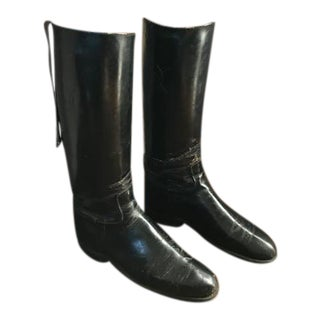 1930s Abercrombie & Fitch by Maxwell, London Riding Boots With Original Boot Trees